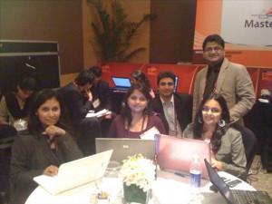 iridium team at NILF 2010 Mumbai